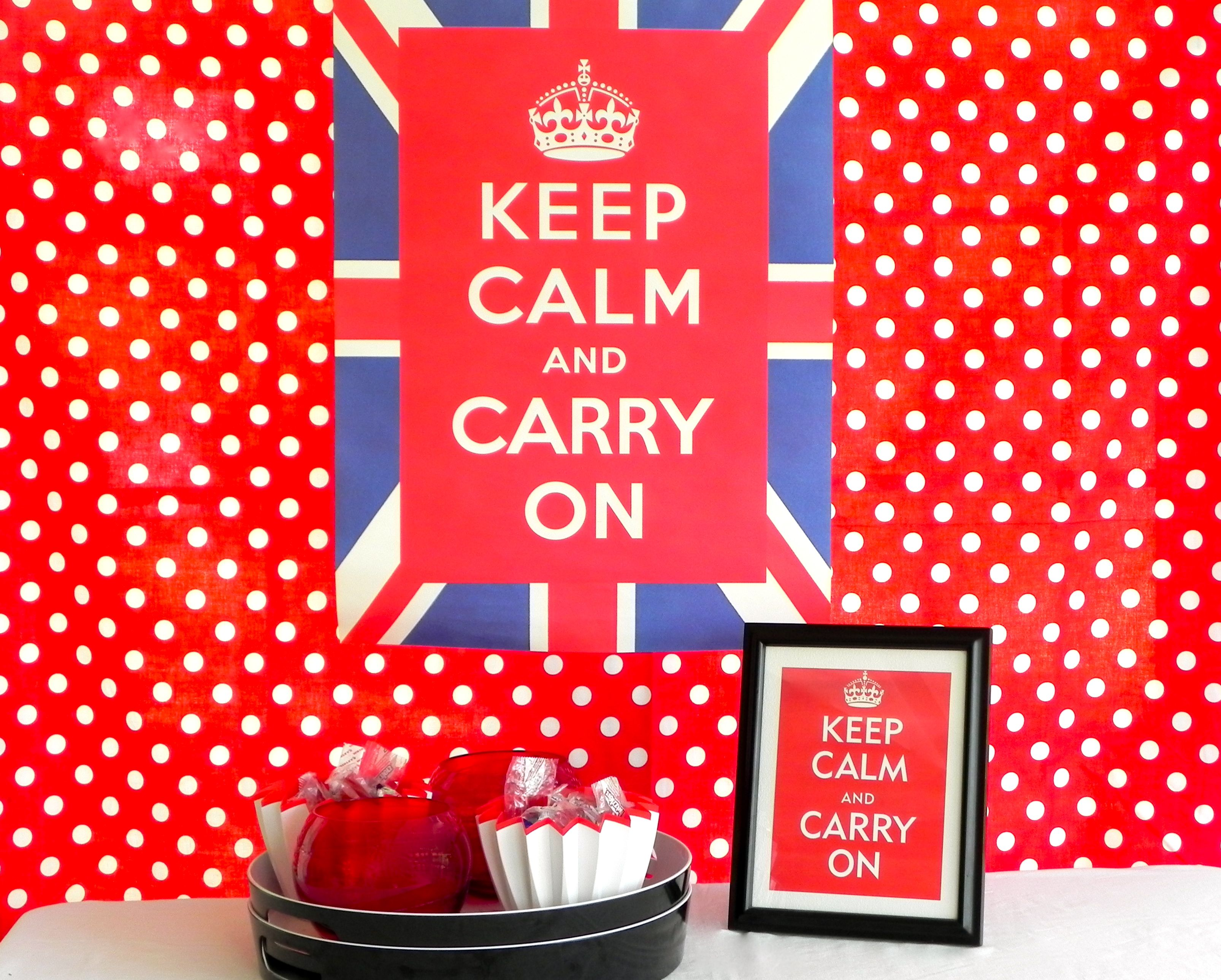 keep calm and carry on theme a graduation party that sends just