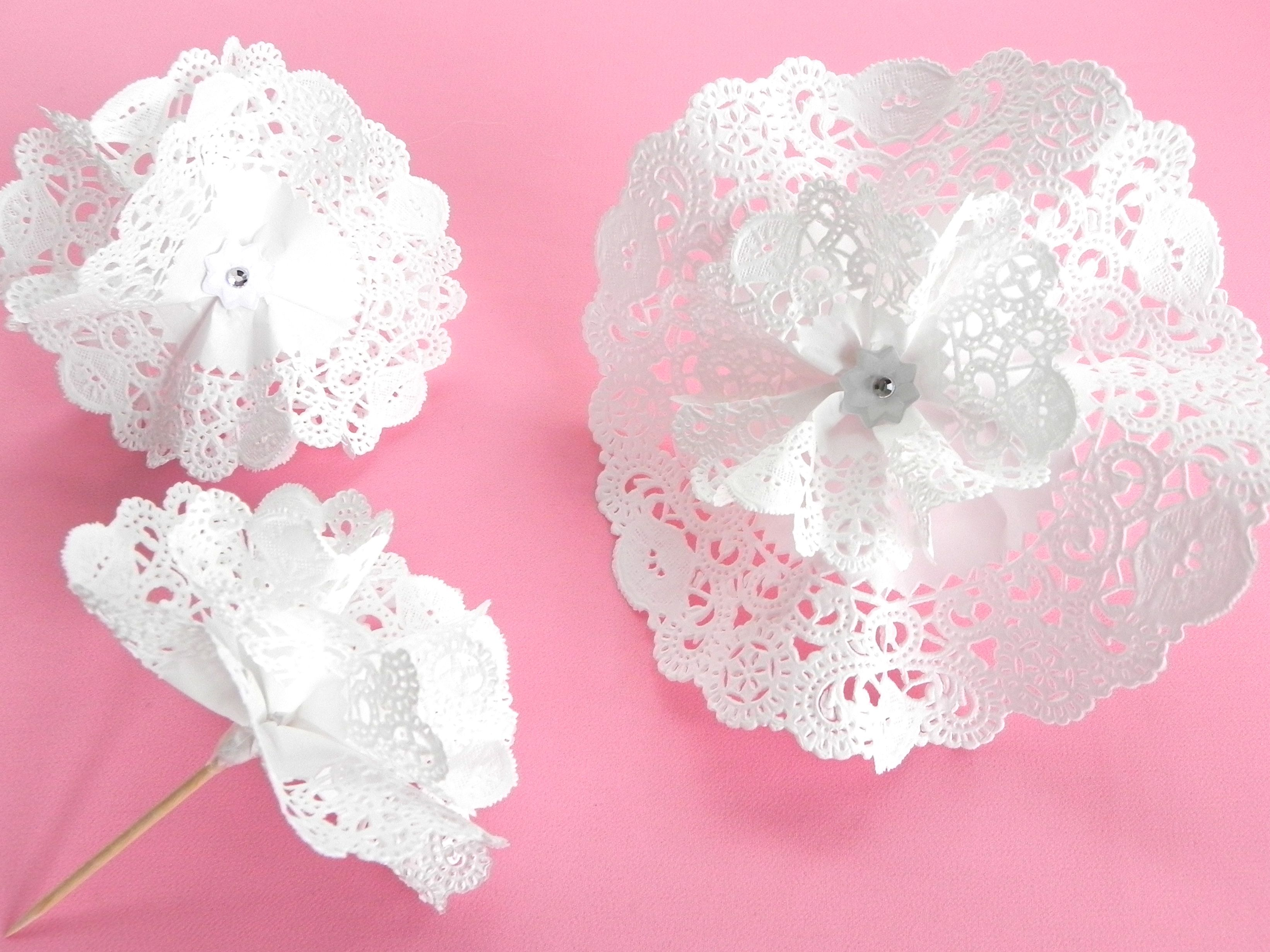 Diy Paper Lace Flower Cakefood Picks Or Table Decor Lacey