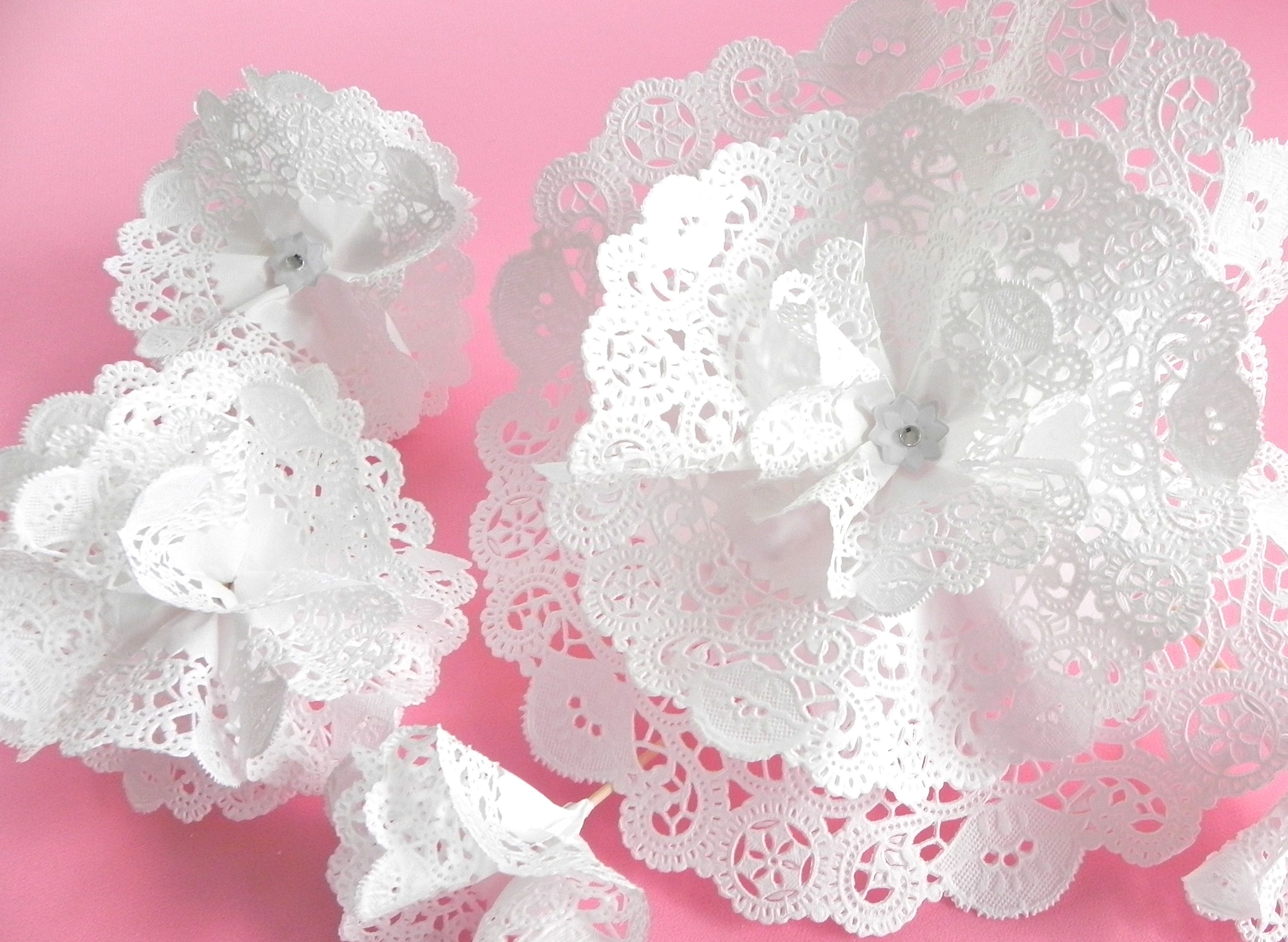 Dorable paper doily flowers composition best evening gown paper doily flowers images flower decoration ideas mightylinksfo