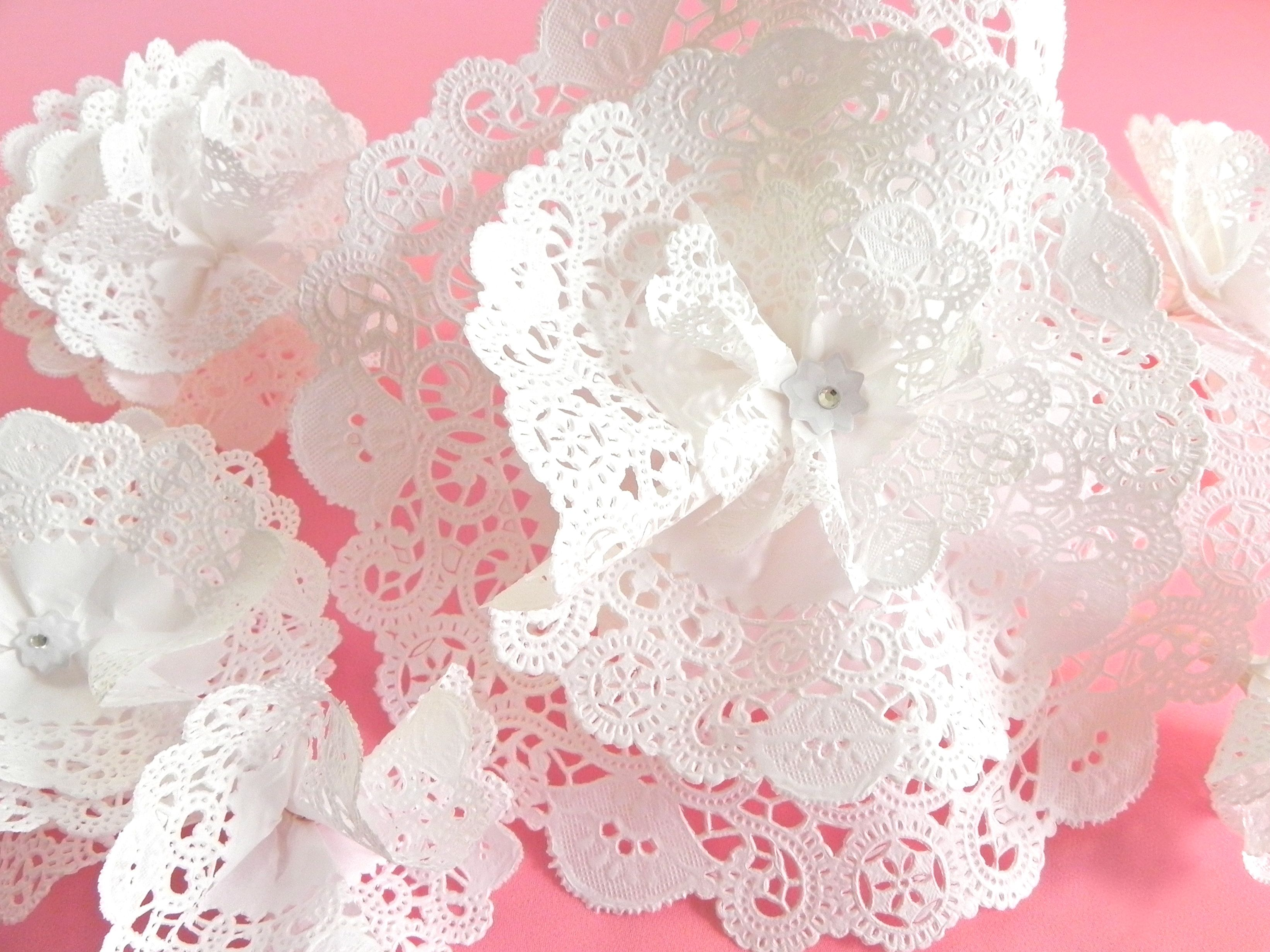DIY Paper Lace Flower