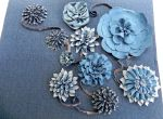 """Forever in Blue Jeans"" Denim Fabric Flowers"