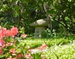 Stone Lantern with Azaleas, New England, USA