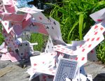 """Unruly Cards"" Centerpiece for Mad Tea Party"