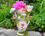 """Miss Party's """"Teetering Teacups"""" Centerpiece for Mad Tea Party"""