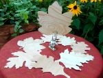 Cherry wood leaves for fall decorating!