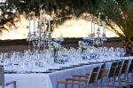 Outdoor elegant dinner table, El Cigarral, Spain