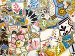 Gaudi's mosaic tiled bench
